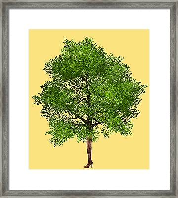 Thigh High Tree Framed Print by Goddess Tasha