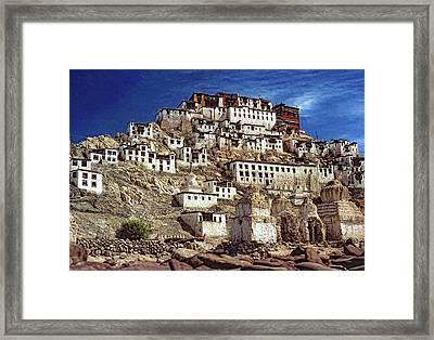Thiksey Monastery Framed Print by Steve Harrington