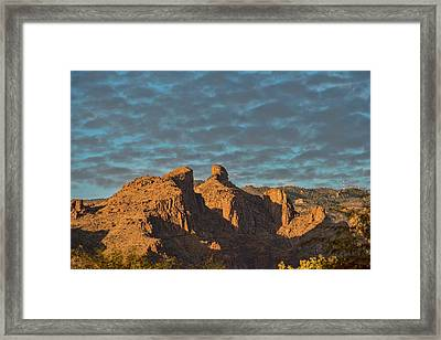 Framed Print featuring the photograph Thimble Peak During Golden Hour by Dan McManus