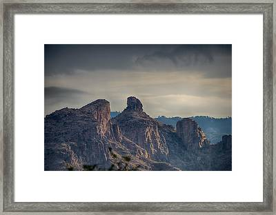 Framed Print featuring the photograph Thimble Peak Sunrise by Dan McManus