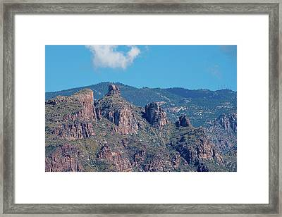 Framed Print featuring the photograph Thimble Peak With Summer Greenery by Dan McManus