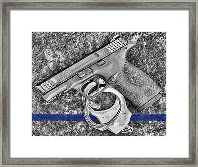 Thin Blue Line 45 Framed Print by JC Findley