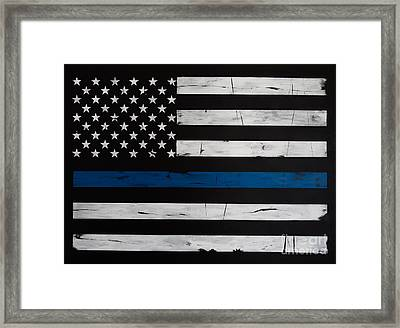 Thin Blue Line Framed Print by Dominoe Gregor
