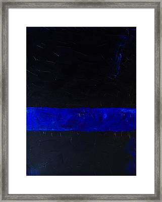 Thin Blue Line Framed Print by Sarah Jane Thompson