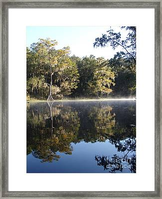 Thin Foggy Line Framed Print