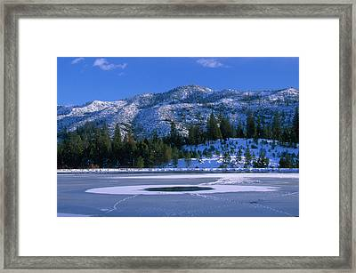 Thin Ice - Johnsondale Lake Framed Print by Soli Deo Gloria Wilderness And Wildlife Photography