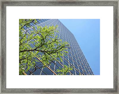 Things Are Looking Up Version 2 Southfield Michigan Town Center Building Perspective Framed Print