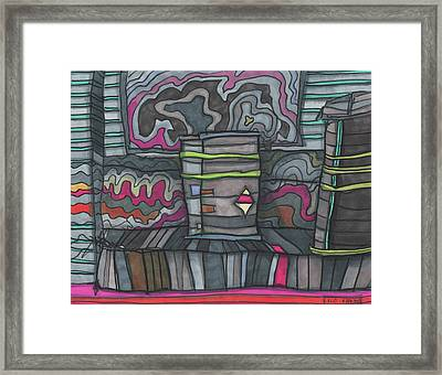 Things In The Alley Framed Print