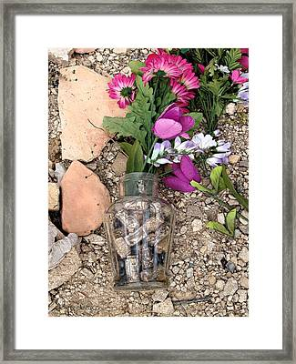 Framed Print featuring the photograph Things Remembered Terlingua Cemetary by Kerry Beverly