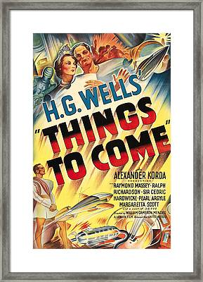 Things To Come Aka H.g. Wells Things To Framed Print