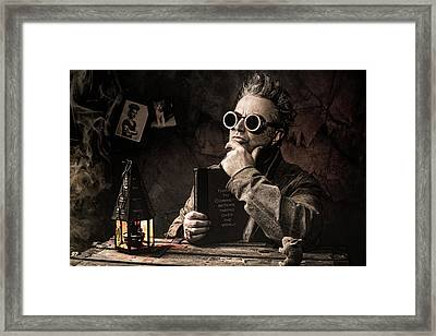 Framed Print featuring the photograph Things To Consider - Steampunk - World Domination by Gary Heller