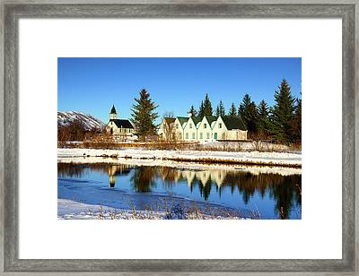 Framed Print featuring the photograph Thingvellir Iceland  by Matthias Hauser