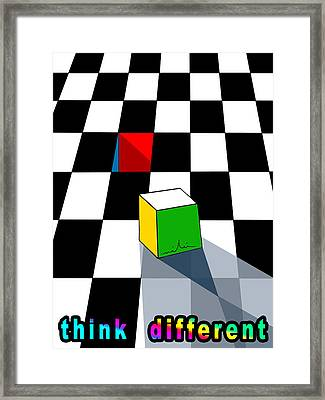 Think Different Framed Print by Miki De Goodaboom