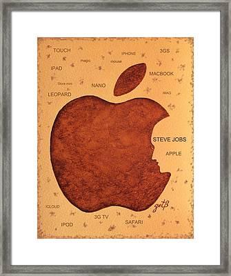 Think Different Steve Jobs  Framed Print