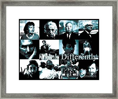 Think Differently Steve Jobs Tribute To The Man Who Gave Us Apple And The Iphone Framed Print by Paul Telling