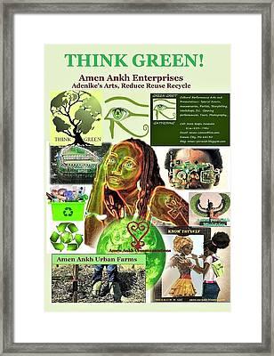 Think Green Framed Print
