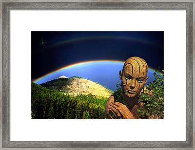 Framed Print featuring the digital art Think Green by Shadowlea Is