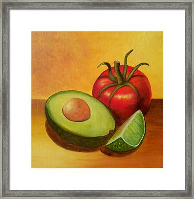 Think Guacamole - Sold Framed Print