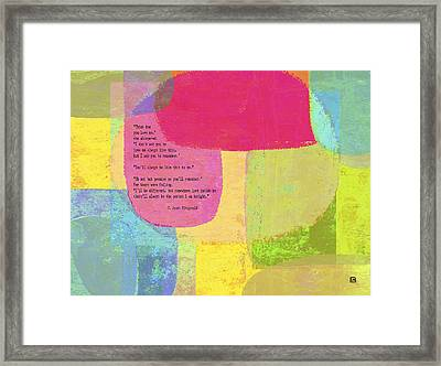 Think How You Love Me Framed Print