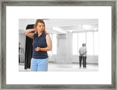 Think Of Dance Framed Print by Jez C Self