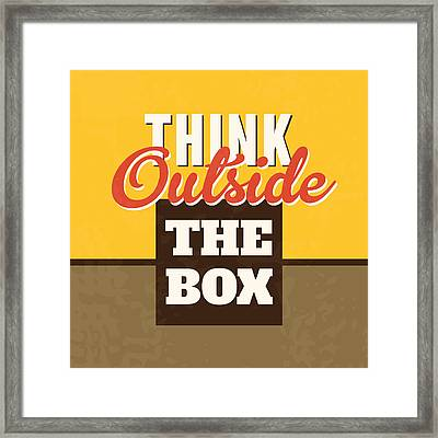 Think Outside The Box Framed Print by Naxart Studio