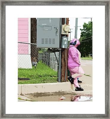 Think Pink Framed Print