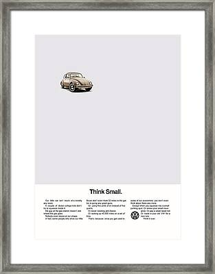 Think Small Framed Print by Mark Rogan