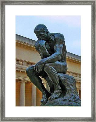 Thinker 1 Framed Print