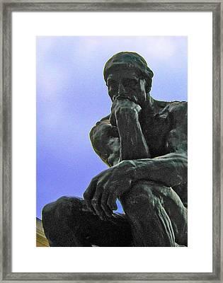 Thinker 2 Framed Print