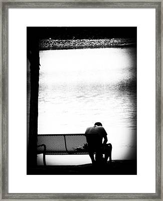 Thinker Framed Print by Cat Jackson