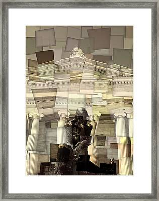 Thinker Cleveland Museum Of Art Cubism Framed Print by Dan Sproul