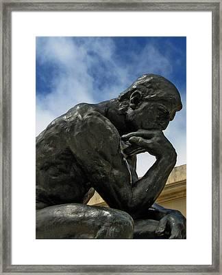 Thinker Framed Print by Michael McFerrin
