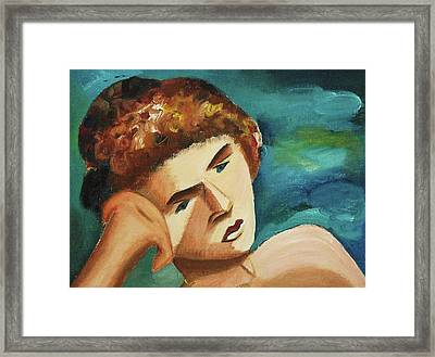 Thinkin Of You Framed Print by Suzanne  Marie Leclair