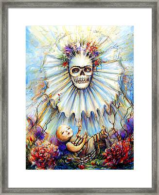 Framed Print featuring the painting Thinking About Life by Heather Calderon