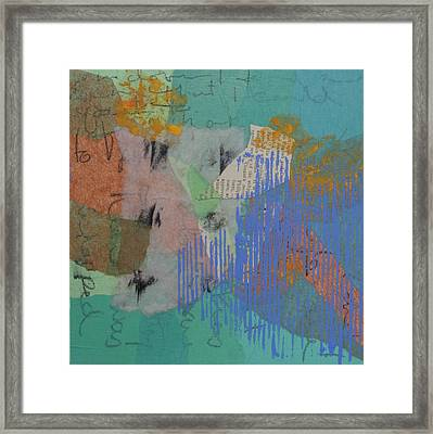 Thinking By The Beach Framed Print