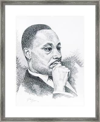 Thinking Of A Dream Framed Print by Otis  Cobb
