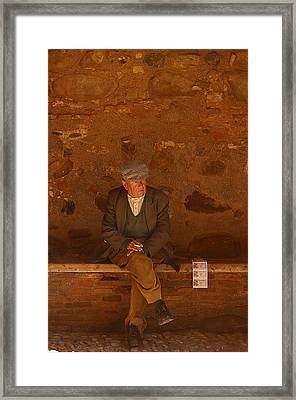 Thinking Of The Lotto Framed Print by Jez C Self