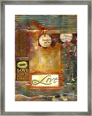 Thinking Of You Framed Print by Angela L Walker