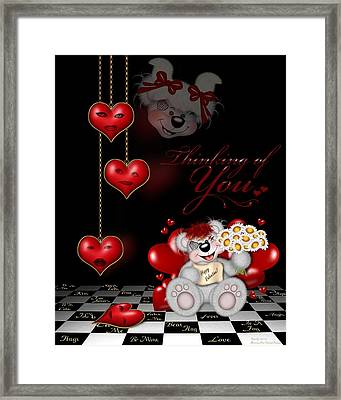 Thinking Of You Framed Print by Morning Dew