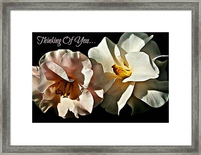 Thinking Of You Greeting Card By C J Anderson Framed Print by CJ Anderson