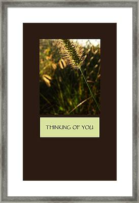 Thinking Of You Framed Print by Mary Ellen Frazee