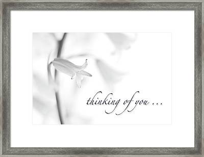 Thinking Of You Notecard Framed Print