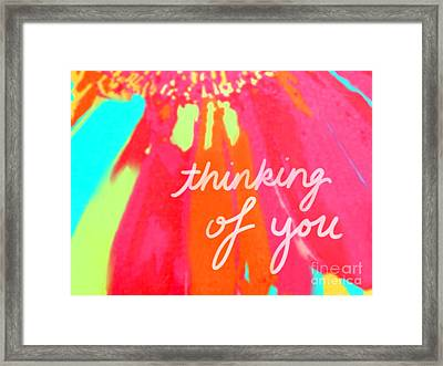 Thinking Of You Framed Print by Raquel Bright