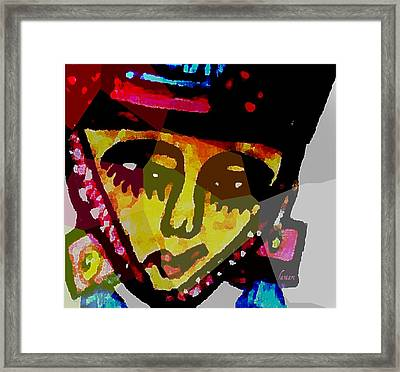Thinking Thoughts Of Freedom Framed Print by Fania Simon