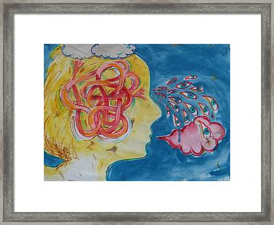 Framed Print featuring the painting Thinking by Tilly Strauss