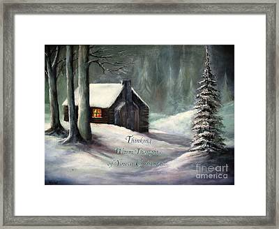 Thinking Warm Thoughts Of You Framed Print