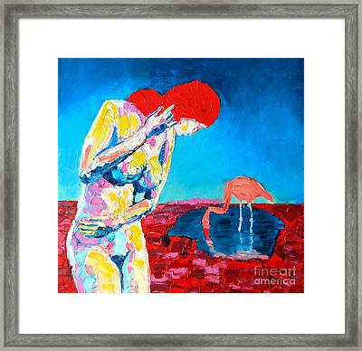 Framed Print featuring the painting Thinking Woman by Ana Maria Edulescu