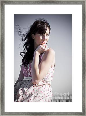 Thinking Woman Framed Print by Jorgo Photography - Wall Art Gallery
