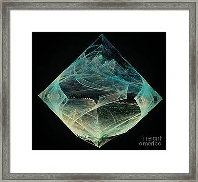 Thinning Of The Veil Framed Print by Diamante Lavendar
