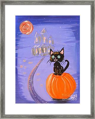 Things I Like Best At Halloween Framed Print